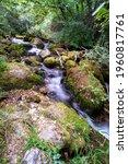long exposure smooth flowing...   Shutterstock . vector #1960817761