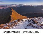 Snow On The Summit Of Helvellyn ...