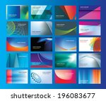 set of new business or company... | Shutterstock .eps vector #196083677