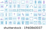 vector flat colored icons set.... | Shutterstock .eps vector #1960860037