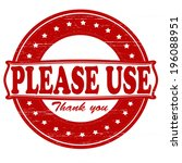 stamp with text please use... | Shutterstock .eps vector #196088951