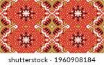 oriental vector damask pattern. ... | Shutterstock .eps vector #1960908184