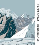 mount hunt mount huntington and ... | Shutterstock .eps vector #1960913767
