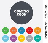 coming soon sign icon....   Shutterstock .eps vector #196093805