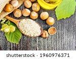 Hazelnut Flour In A Spoon  Nuts ...