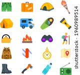 Camp Icon Set With Pant ...