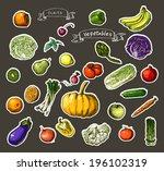 vector illustration of a set of ... | Shutterstock .eps vector #196102319