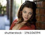 portrait of beautiful woman... | Shutterstock . vector #196106594