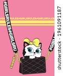 Cross Body Bag With Cute Kitten ...