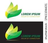 Glossy Logo With Three...