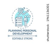 planning personal development... | Shutterstock .eps vector #1961136301