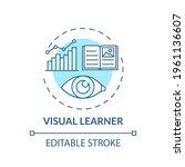 visual learner turquoise... | Shutterstock .eps vector #1961136607