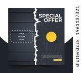 editable minimal square banner... | Shutterstock .eps vector #1961137321