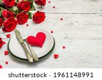 Romantic Dinner Table. Love...