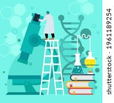 biotechnology concept. biology  ...   Shutterstock .eps vector #1961189254