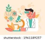 biotechnology concept. biology  ...   Shutterstock .eps vector #1961189257