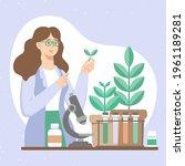 biotechnology concept. biology  ...   Shutterstock .eps vector #1961189281