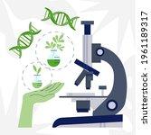 biotechnology concept. biology  ...   Shutterstock .eps vector #1961189317