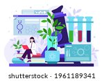 biotechnology concept. biology  ...   Shutterstock .eps vector #1961189341