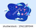 biotechnology concept. biology  ...   Shutterstock .eps vector #1961189344