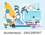 biotechnology concept. biology  ...   Shutterstock .eps vector #1961189347