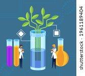 biotechnology concept. biology  ...   Shutterstock .eps vector #1961189404