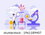 biotechnology concept. biology  ...   Shutterstock .eps vector #1961189407