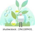 biotechnology concept. biology  ...   Shutterstock .eps vector #1961189431