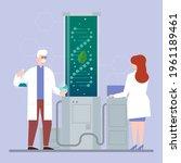 biotechnology concept. biology  ...   Shutterstock .eps vector #1961189461