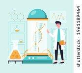biotechnology concept. biology  ...   Shutterstock .eps vector #1961189464