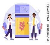 biotechnology concept. biology  ...   Shutterstock .eps vector #1961189467