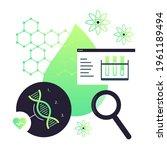 biotechnology concept. biology  ...   Shutterstock .eps vector #1961189494