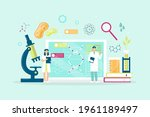 biotechnology concept. biology  ...   Shutterstock .eps vector #1961189497