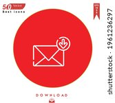 outline inbox icon. inbox icon...   Shutterstock .eps vector #1961236297