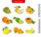 apricot,banana,berry,collection,design,dessert,diet,food,fresh,fruit,green,healthy,icon,illustration,isolated