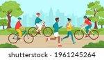 park activities. elderly and... | Shutterstock .eps vector #1961245264