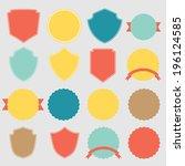 set of vector stickers  | Shutterstock .eps vector #196124585