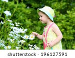 cute little child  adorable... | Shutterstock . vector #196127591