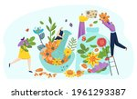 woman man tiny character... | Shutterstock .eps vector #1961293387