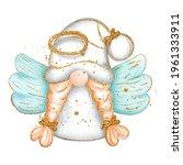 digital paint watercolor angel... | Shutterstock .eps vector #1961333911