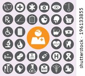 flat medical icons set | Shutterstock .eps vector #196133855