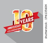 10th years anniversary... | Shutterstock .eps vector #196135604
