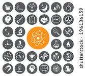 science vector set . | Shutterstock .eps vector #196136159