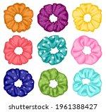 hair scrunchies. cartoon... | Shutterstock .eps vector #1961388427