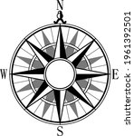 Wind Rose And Rhumb Of North ...