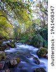 long exposure smooth flowing...   Shutterstock . vector #1961408347