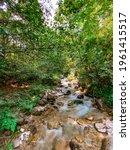 long exposure smooth flowing...   Shutterstock . vector #1961415517