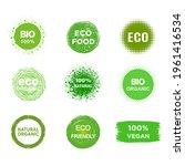 set of eco  bio  vegan product  ... | Shutterstock . vector #1961416534