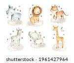 Safari Animals Watercolor...