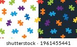 lgbt puzzles seamless pattern.... | Shutterstock .eps vector #1961455441